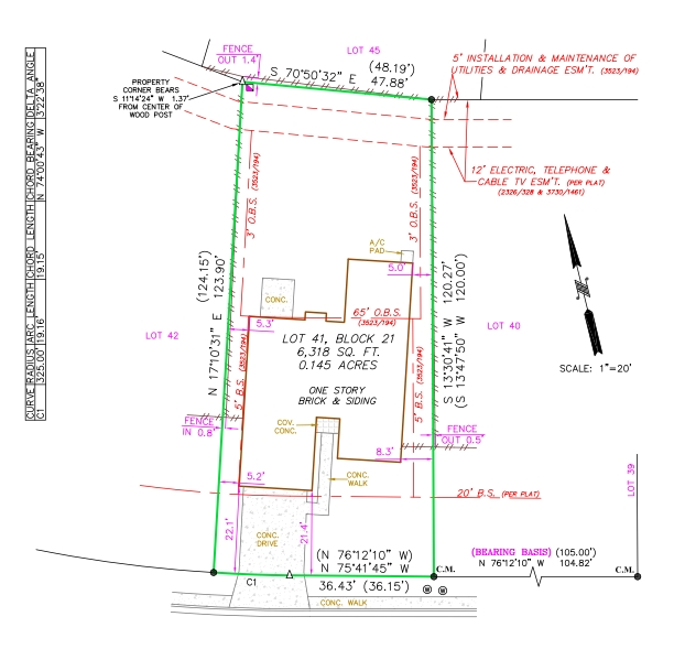 Single Lot land surveys