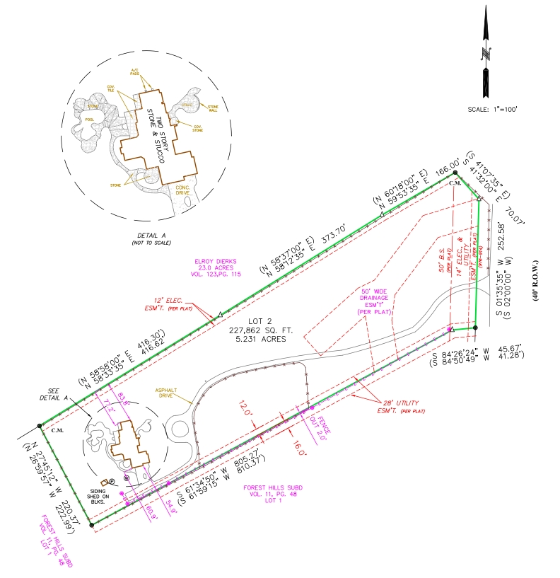 Acreage Lot land surveys